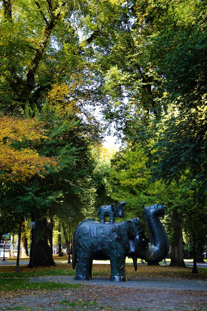 Elephant Statue in the Park Blocks in Portland OR