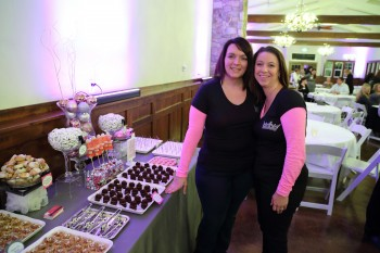 April and Melissa from Hey Sweets at Snohomish Wedding Guild Meeting at Swans Trail Farms in Snohomish WA