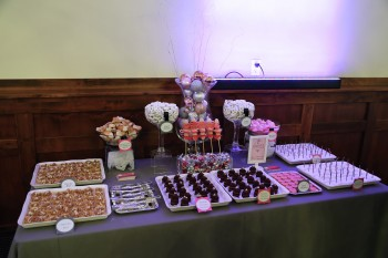 Dessert buffet from Hey Sweets at the Snohomish Wedding Guild Meeting at Swans Trail Farms in Snohomish WA