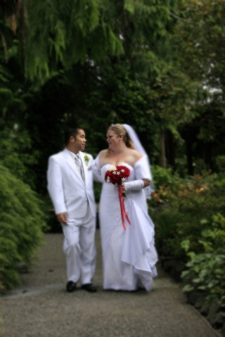 Bride and Groom at Kiana Lodge in Poulsbo, WA