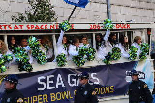 Sea Gals - Seattle Seahawks Super Bowl Victory Parade in Seattle, WA - February 2014