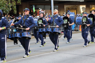 Blue Thunder Drum Line - Seattle Seahawks Super Bowl Victory Parade in Seattle, WA - February 2014