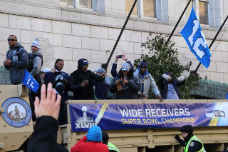 Wide Receivers - Seattle Seahawks Super Bowl Victory Parade in Seattle, WA - February 2014