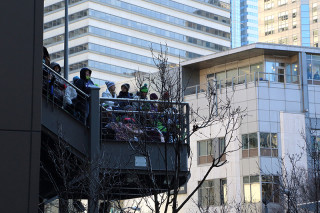 View from Westlake - Seattle Seahawks Super Bowl Victory Parade in Seattle, WA - February 2014