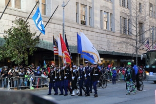 Color Guard - Seattle Seahawks Super Bowl Victory Parade in Seattle, WA - February 2014