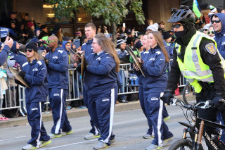 Drum Line - Seattle Seahawks Super Bowl Victory Parade in Seattle, WA - February 2014