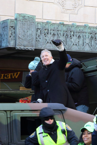 Coach Pete - Seattle Seahawks Super Bowl Victory Parade in Seattle, WA - February 2014