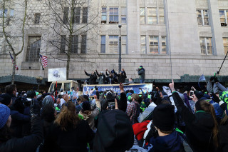Legion of Boom - Seattle Seahawks Super Bowl Victory Parade in Seattle, WA - February 2014