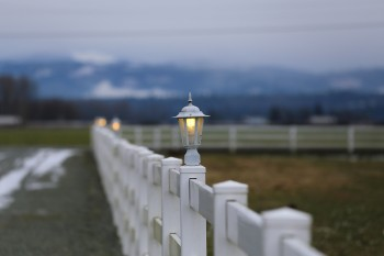 Fence with lightpost from Countryside Meadows in Arlington, WA