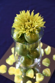 Centerpiece with limes