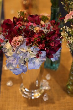 Lovely multicolored centerpiece
